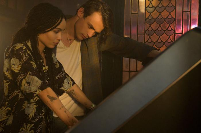 """Zoë Kravitz, left, and Thomas Doherty, right, in a scene from Hulu's """"High Fidelity."""""""