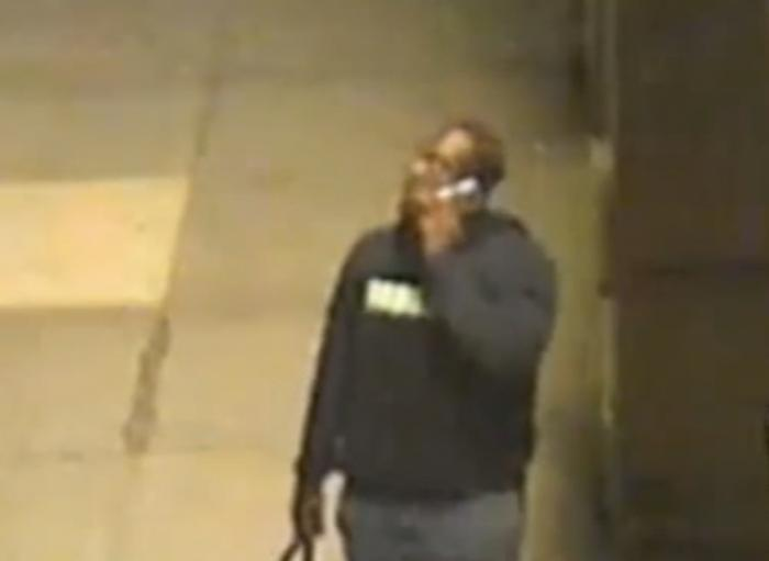 Security footage shows the suspect in an anti-gay attack