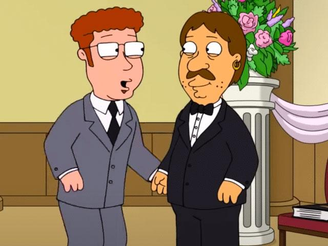 "Jeffrey and Bruce on ""Family Guy"""