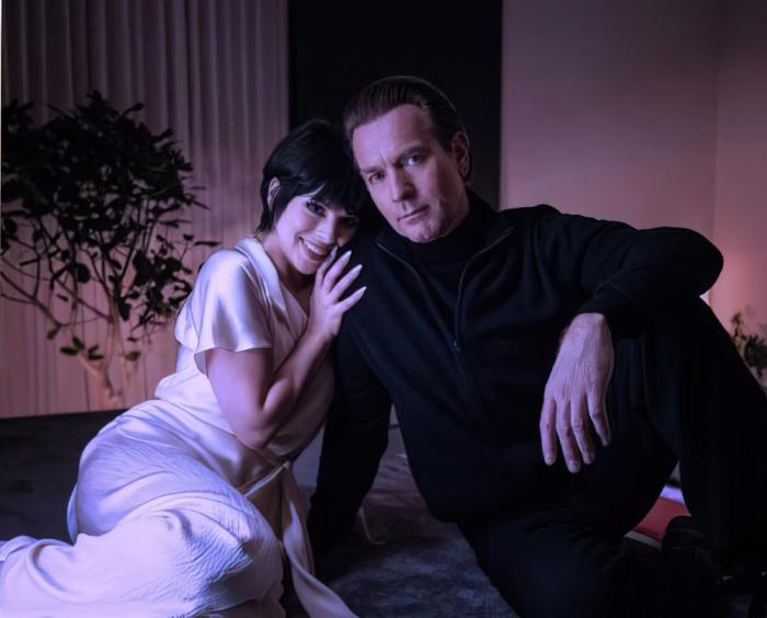 "Krysta Rodriguez and Ewan McGregor in a promotional still for Netflix's upcoming ""Halston"""