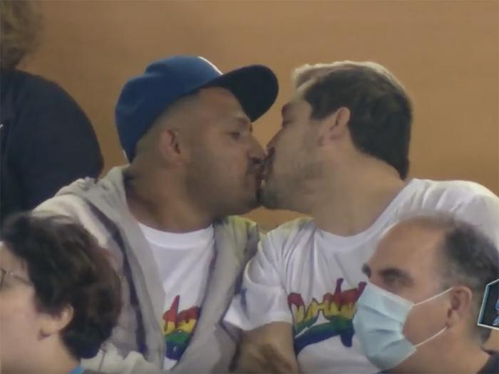 The LA Dodgers' LGBTQ Pride Night featured the return of the Kiss Cam.