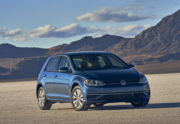This photo provided by Volkswagen shows the 2021 Golf, a practical hatchback with lots of storage space and a comfortable ride